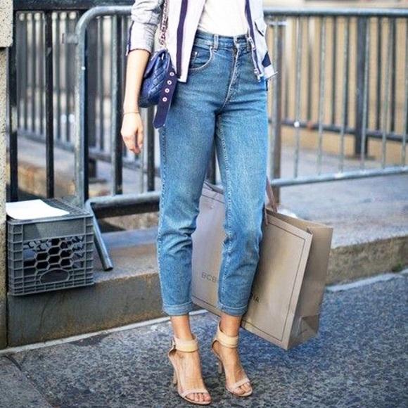 shop meet baby H&M High Rise Vintage Fit Jeans